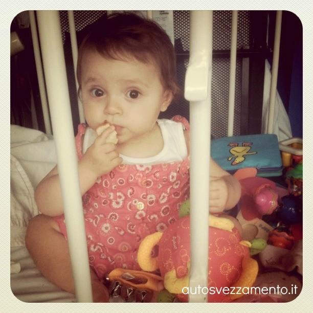 Bambina si svezza da sola 11 mesi
