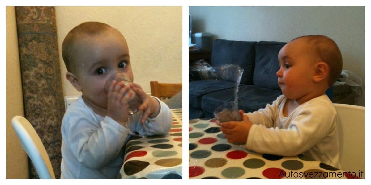 Baby C, 10 mesi, impara a mere dal bicchiere da sola - Autosvezzamento