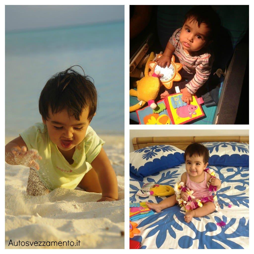 Bambina viaggio Polinesia autosvezzamento
