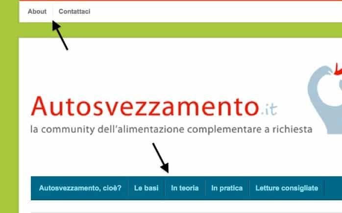 nuovo menu blog autosvezzamento