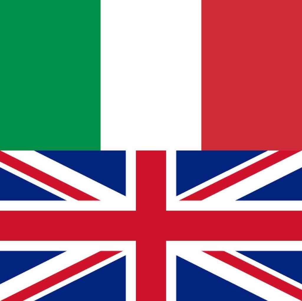 Bandiere italiana e britannica autosvezzamento