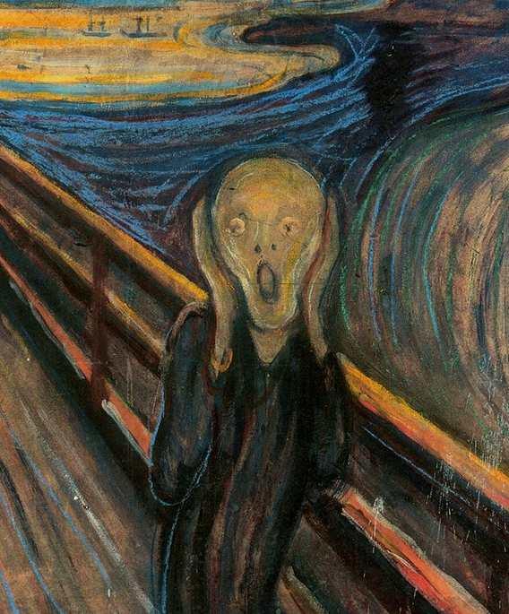 Urlo Munch dettaglio