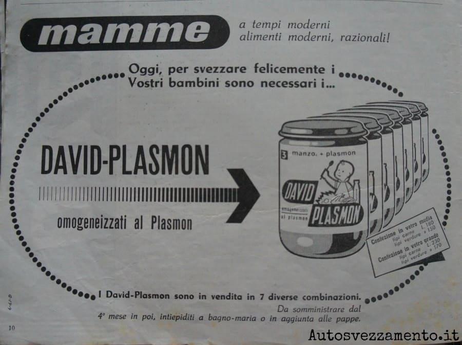 plasmon, baby food, anni 60