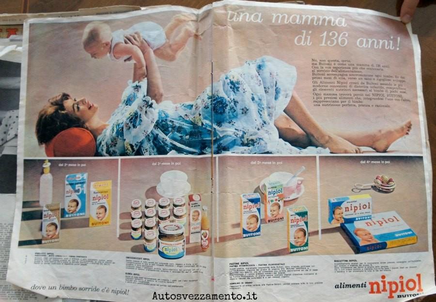 baby food, pubblicità, nipiol, anni 60