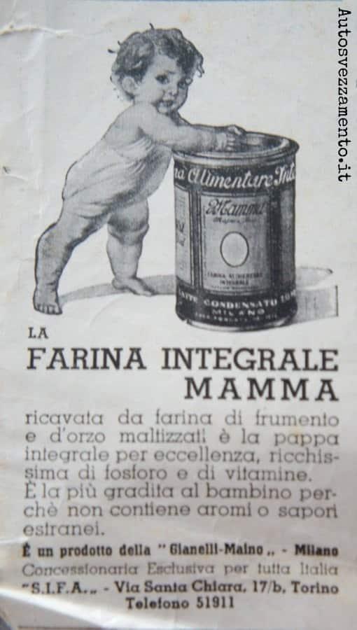 pubblicità, baby food, anni 30