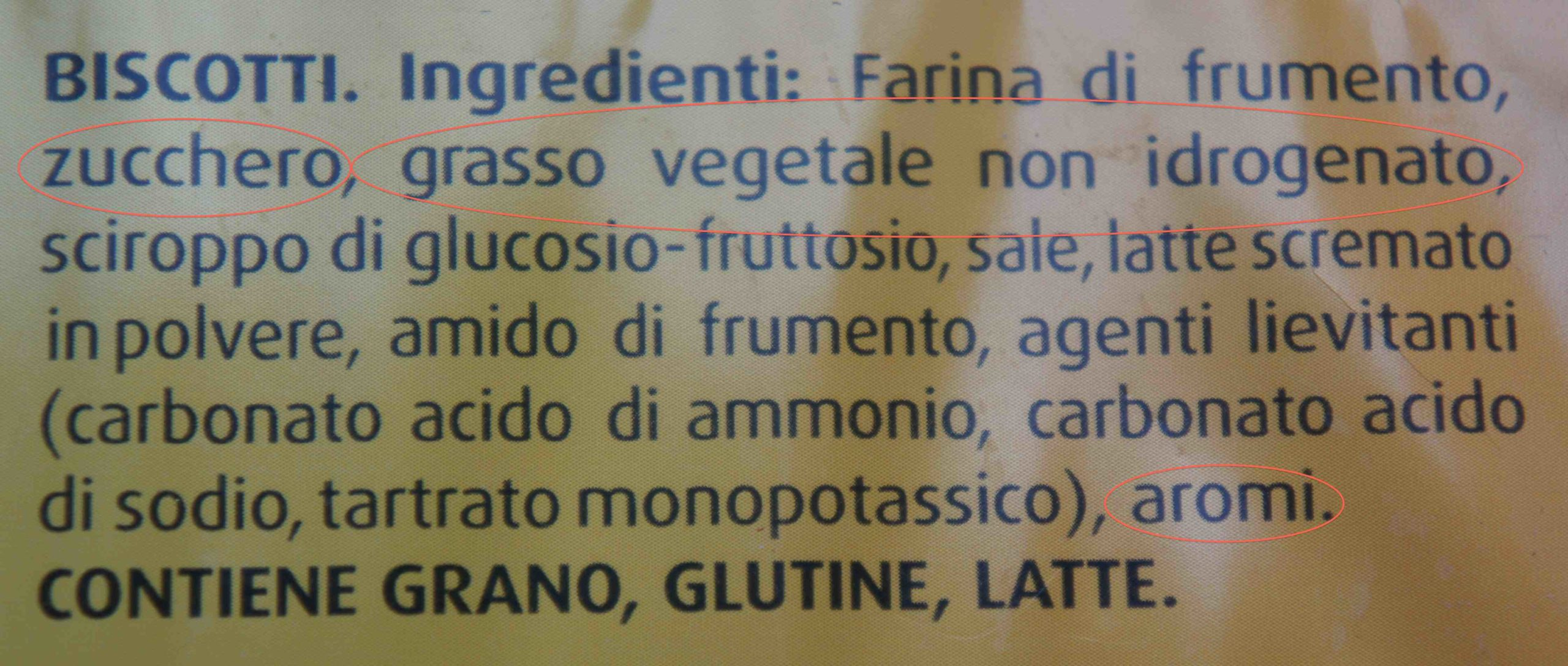 Ingredienti Oro Saiwa