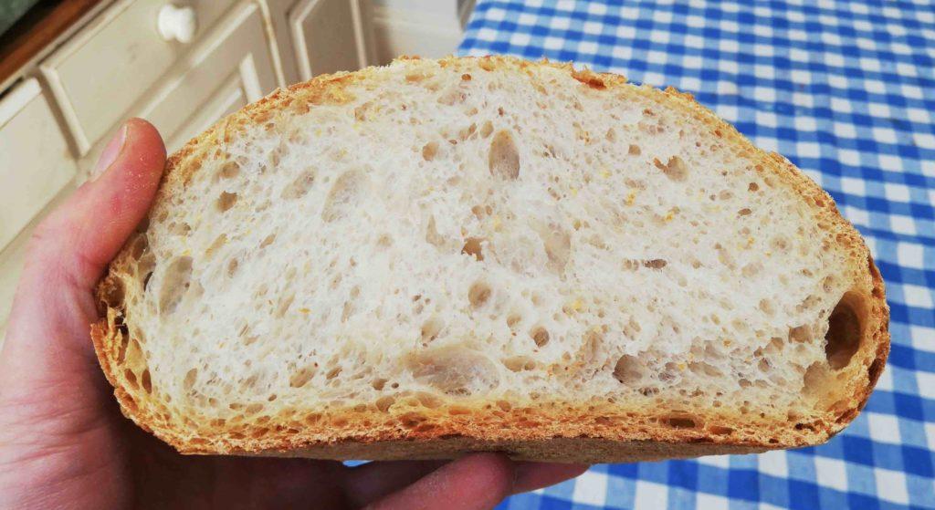 Pane pasta madre alveolatura farina caputo