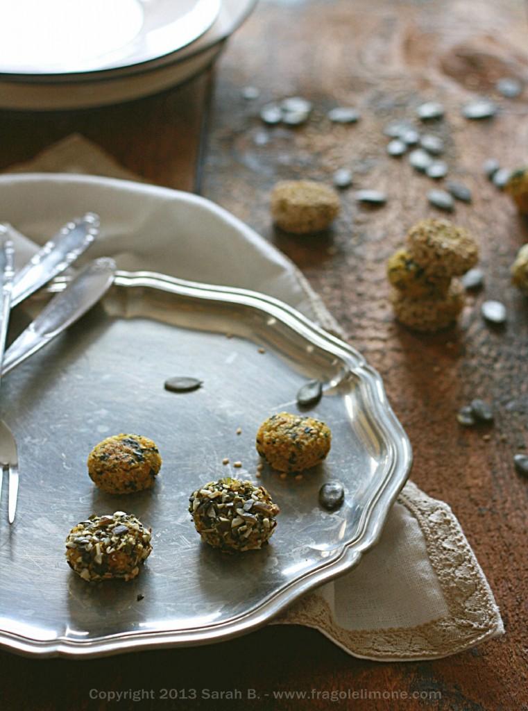 polpette, quinoa, spinaci, zucca, semi, svezzamento, autosvezzamento