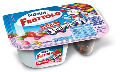 Fruttolo yogurt smarties junk food autosvezzamento