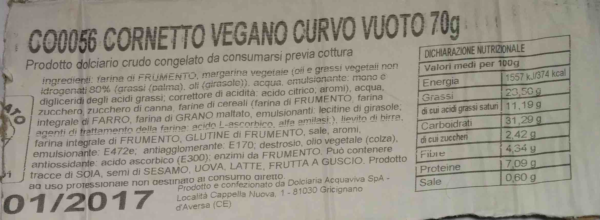 ingredienti cornetto San Vito
